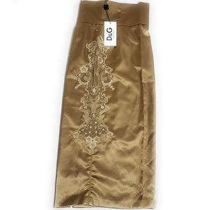 DOLCE & GABBANA Pencil Skirt Straight Embroidered